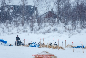 Tom Knolmayer leaves the ghost town Iditarod checkpoint during a snowfall on Friday, March 9th during the 2018 Iditarod Sled Dog Race -- AlaskaPhoto by Jeff Schultz/SchultzPhoto.com  (C) 2018  ALL RIGHTS RESERVED