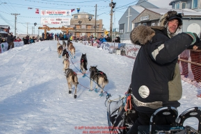 at Nome on Wednesday March 14th in the 46th running of the 2018 Iditarod Sled Dog Race.  Photo by Jeff Schultz/SchultzPhoto.com  (C) 2018  ALL RIGHTS RESERVED